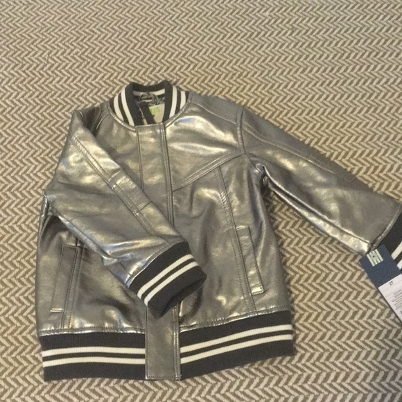 6e45fb51d Brand New 2t OshKosh Silver Bomber Jacket NWT